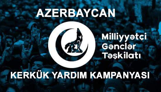 Son Dakika:Azerbaycan Gençlerinden Kerkük Kampanyası