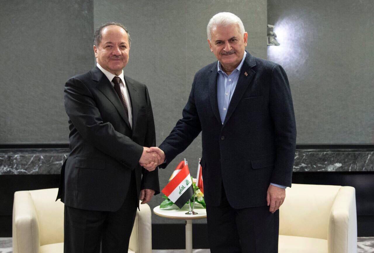 Başbakan Yıldırım Münih'te Barzani İle Biraraya Geldi