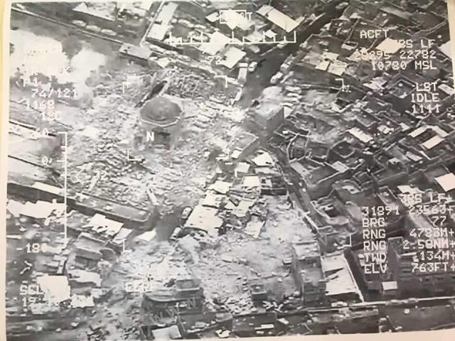 IŞİD, Bağdadi'nin hilafeti ilan ettiği tarihi camiyi havaya uçurdu