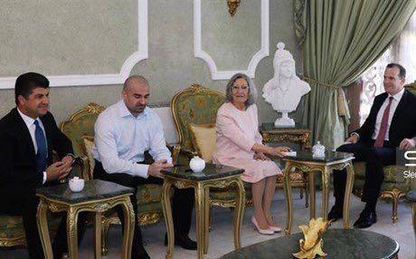 ABD İşid Temsilcisi McGurk Talabani ile Birarada
