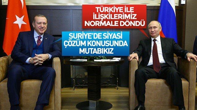 Cumhurbaşkanı Erdoğan ve Putin Ortak Basın Toplantısı Düzenledi