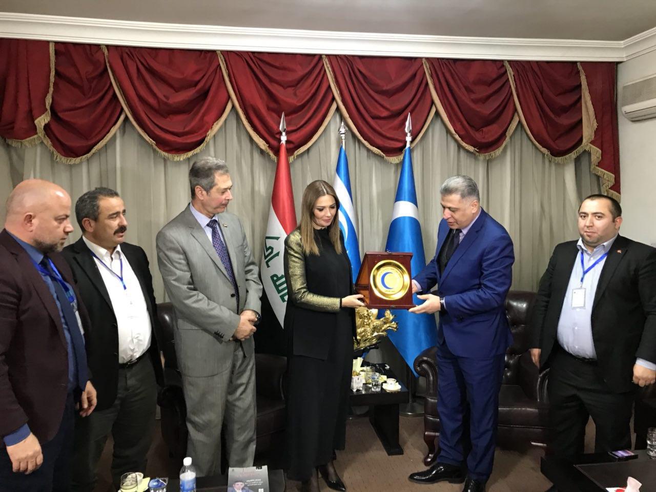 Lider Salihi Azerbaycan Milletvekili Paşayeva İle Bağdat'ta Biraraya Geldi