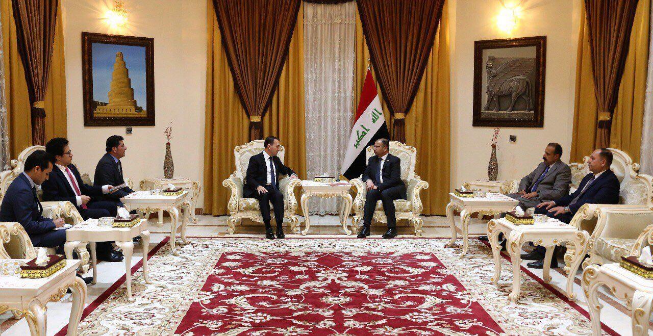 Türkmeneli Büyükelçisi Yıldız Irak Meclis Başkanı İle Biraraya Geldi