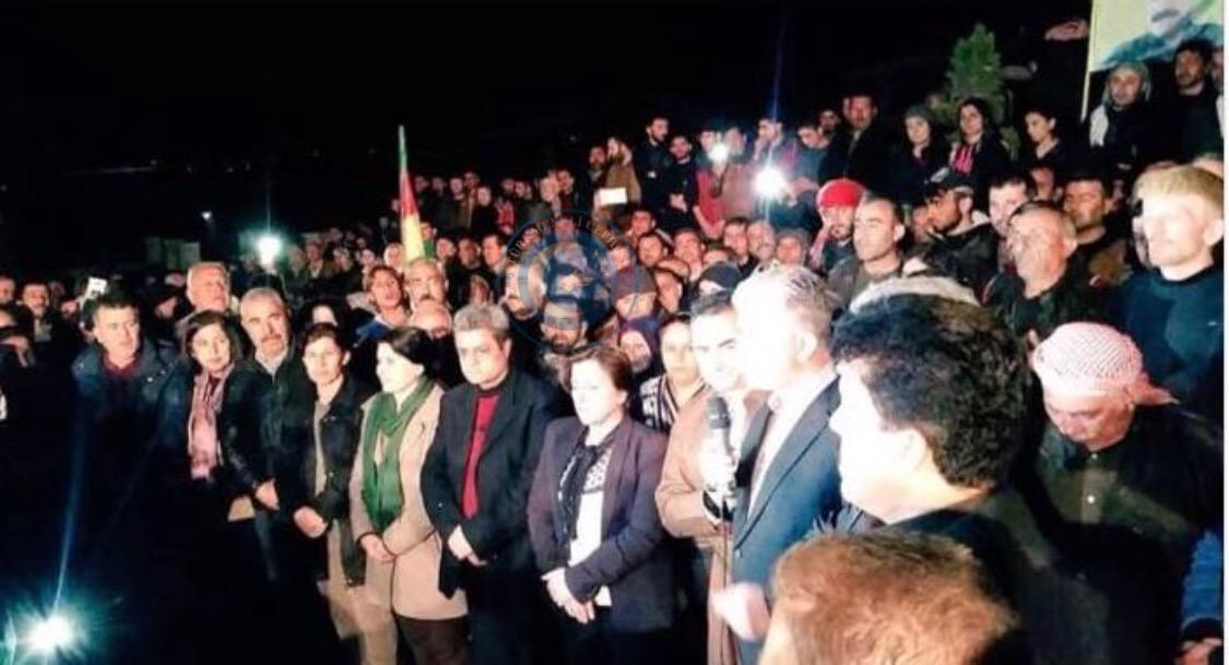 Son Dakika IKBY BARZANİ PARLAMENTOSUNDAN AFRİN'de PKK ya Ziyaret