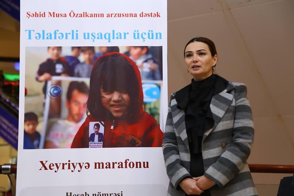 Azerbaycan'da Şehit Özalkan'ın Vasiyeti İçin Kampanya Başlatıldı