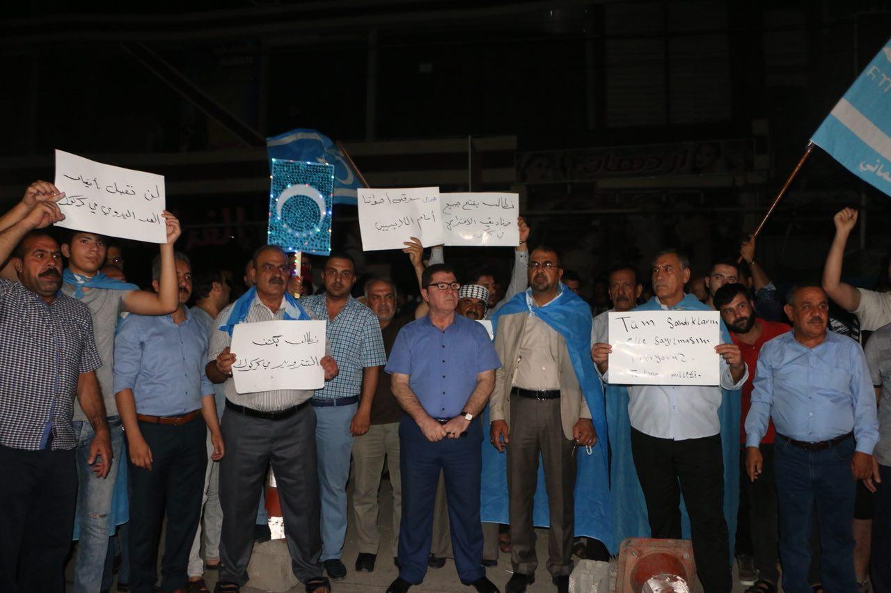 Kerkük'te Oyların Elle Sayım İşleminin Durdurulması Protesto Edildi