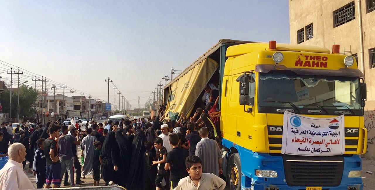ITC Basra'da Binlerce Aileye Temiz Şişe Hazır Su Dağıttı