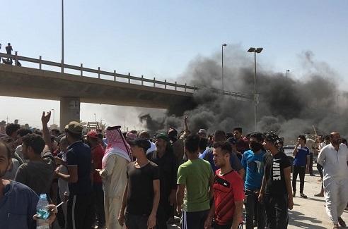 Irak Başbakanı'nın Basra Ziyaretine Protesto