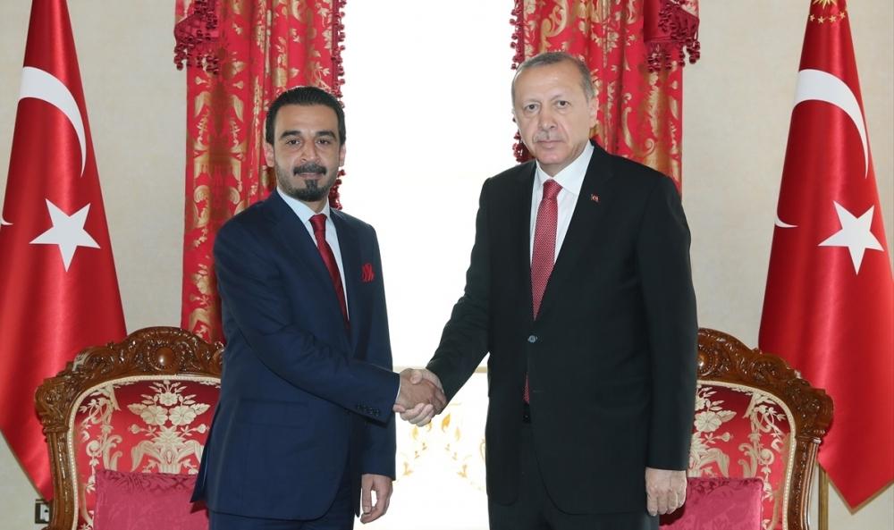 Cumhurbaşkanı Erdoğan Irak Meclis Başkanı Halbusi'yi Kabul Etti