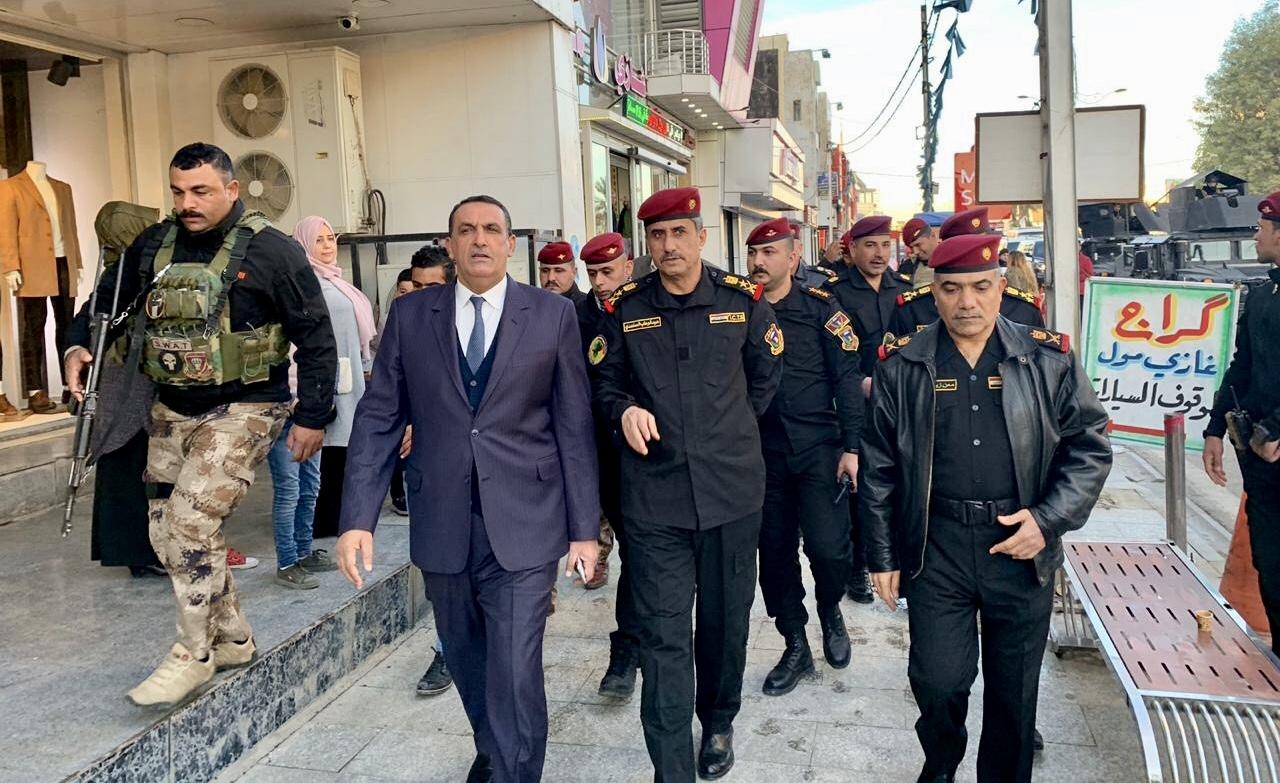 بالصور.. قائد جهاز مكافحة الارهاب يتجول في شوارع وأسواق كركوك