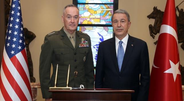 Bakan Akar ABD Genelkurmay Başkanı Dunford'u Kabul Etti