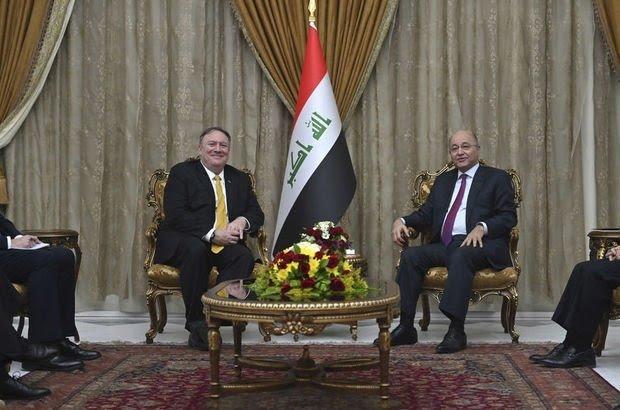 ABD Dışişleri Bakanı Pompeo, Irak Cumhurbaşkanı Salih ile Görüştü