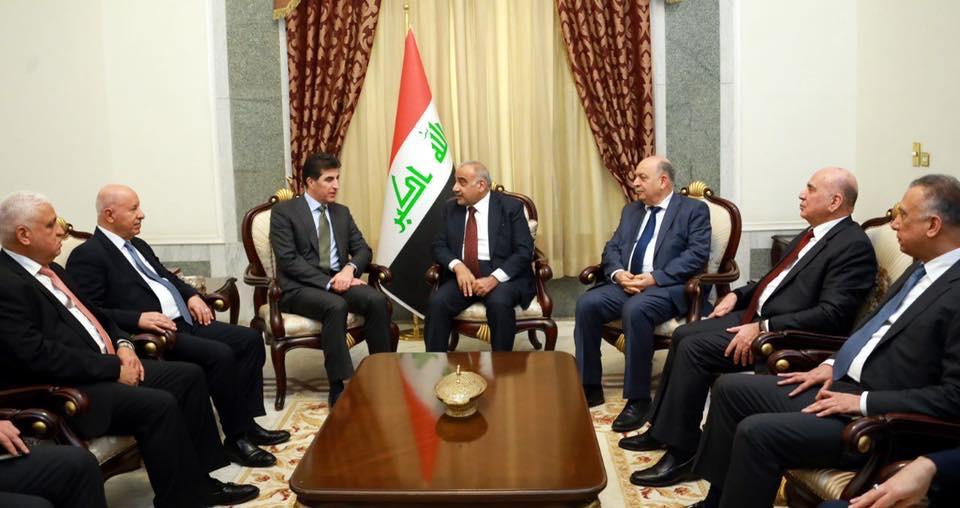 Barzani Bağdat'ta Irak Başbakanı Abdulmehdi ile Görüştü
