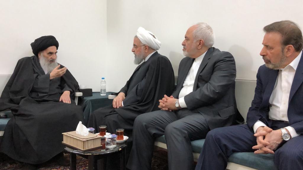 Ruhani Necef'te Sistani ile Bir Araya Geldi